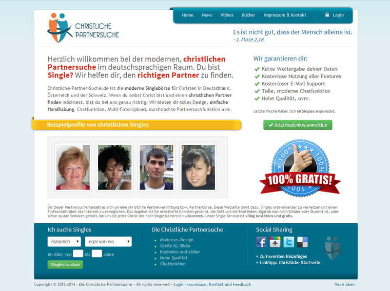 Internationale christliche partnersuche