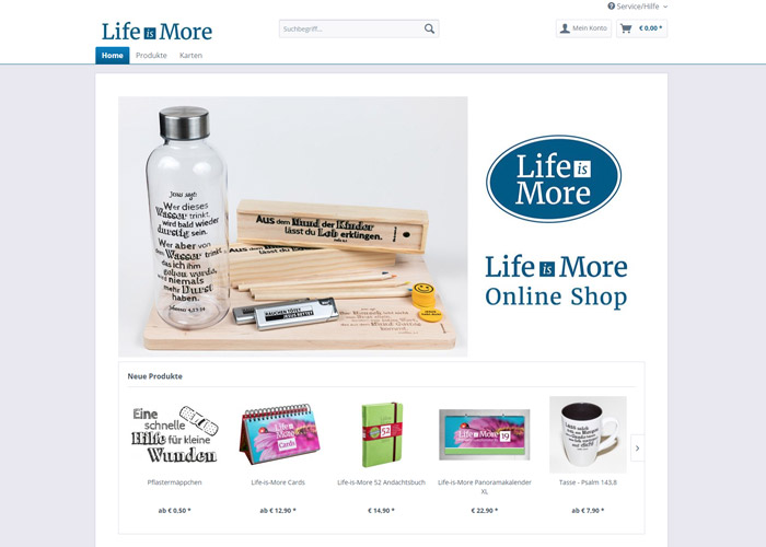 Life-is-More Online-Shop